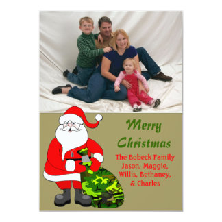 Military Family Christmas Photo Card 13 Cm X 18 Cm Invitation Card