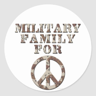 Military Family for Peace Round Sticker