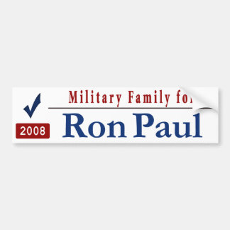 Military Family for Ron Paul Bumper Sticker