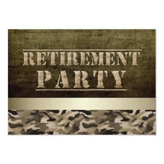 Military Fatigues Retirement Party 13 Cm X 18 Cm Invitation Card