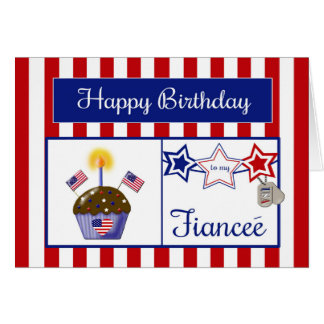 Military Fiancee Birthday Card