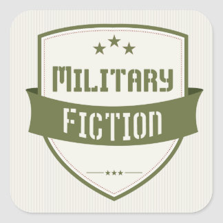 Military Fiction Genre Book Cover Square Stickers