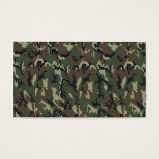 Military Forest Camouflage Background Business Card