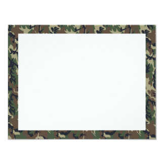 Military Forest Camouflage Background Card