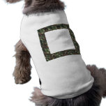 Military Forest Camouflage Background Doggie Tshirt