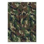 Military Forest Camouflage Background Greeting Card