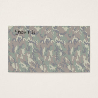 Military Forest Camouflage Background Lightened Business Card
