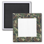 Military Forest Camouflage Background Refrigerator Magnets