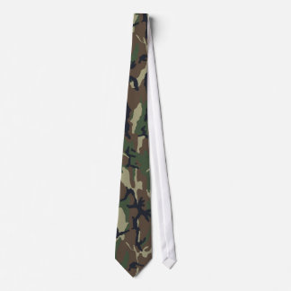 Military Forest Camouflage Background Tie