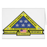 Military Funeral Honours Greeting Cards