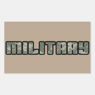 MILITARY Gear Rectangular Sticker