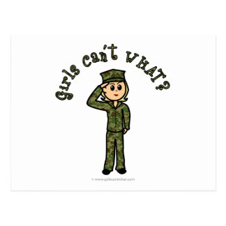 Military Girl - Blonde Post Card