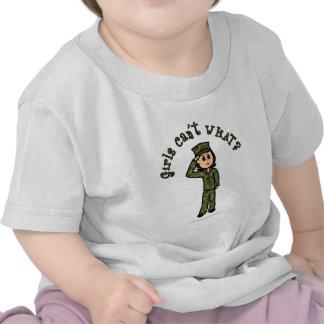 Military Girl - Light Tees