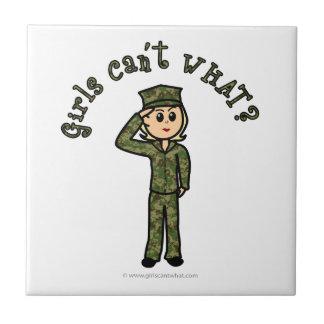 Military Girl - Light Ceramic Tile