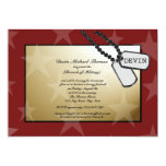 Military Going Away Party Gold and Red 13 Cm X 18 Cm Invitation Card