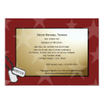 Military Going Away Party Gold and Red Invitation