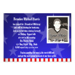 Military Going Away Party Personalized Announcements