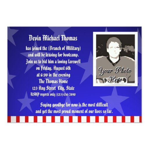 Military Going Away Party 5x7 Paper Invitation Card