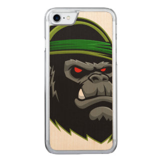 Military Gorilla Head Carved iPhone 8/7 Case