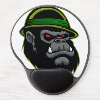 Military Gorilla Head Gel Mouse Mat