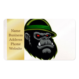 Military Gorilla Head Pack Of Standard Business Cards