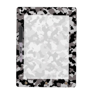Military Gray Camouflage Pattern Dry-Erase Whiteboard