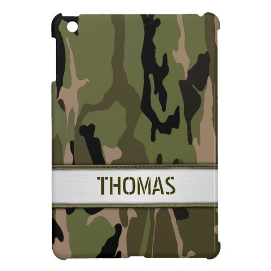 Military Green Camo Name Template iPad Mini Covers