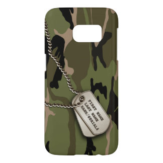 Military Green Camo w/ Dog Tag