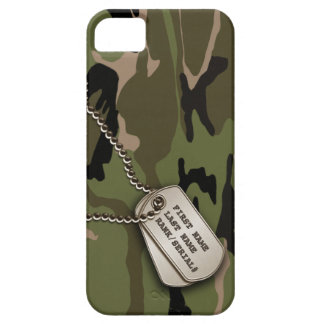 Military Green Camo w/ Dog Tag Case For The iPhone 5