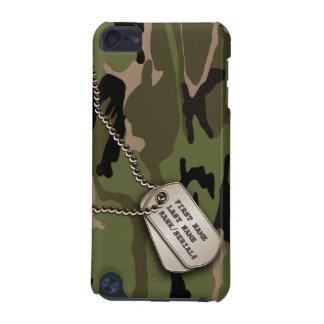Military Green Camo w/ Dog Tag iPod Touch 5G Cases