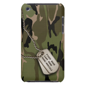 Military Green Camo w/ Dog Tag iPod Touch Covers