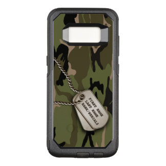Military Green Camo w/ Dog Tag OtterBox Commuter Samsung Galaxy S8 Case