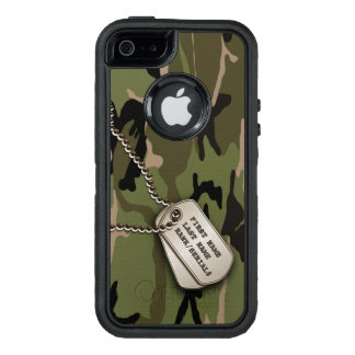 Military Green Camo w/ Dog Tag OtterBox iPhone 5/5s/SE Case