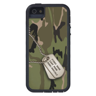 Military Green Camo w/ Dog Tag Tough Xtreme iPhone 5 Case