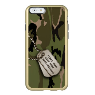 Military Green Camo w/ Dog Tags Incipio Feather® Shine iPhone 6 Case