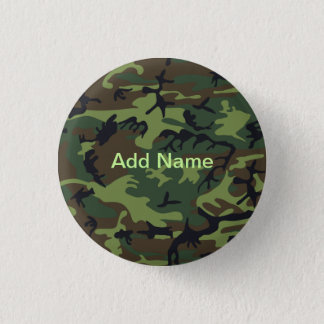 Military Green Camouflage 3 Cm Round Badge