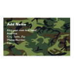 Military Green Camouflage Business Card