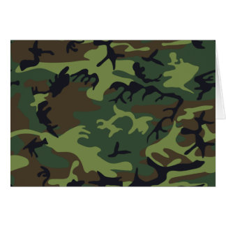 Military Green Camouflage Card