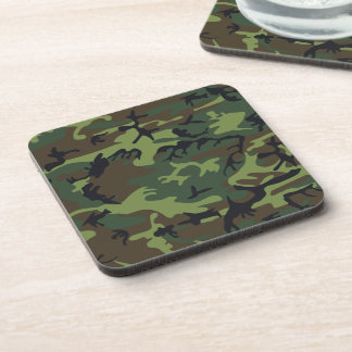 Military Green Camouflage Beverage Coaster