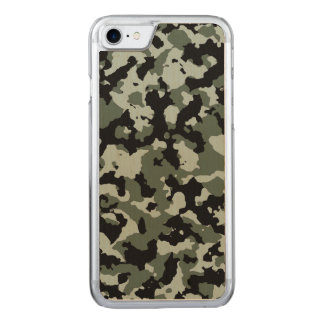 Military Green Camouflage Pattern Carved iPhone 8/7 Case