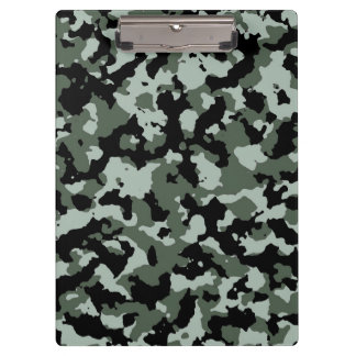 Military Green Camouflage Pattern Clipboard