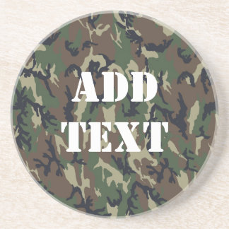 Military Green Camouflage Pattern Coaster