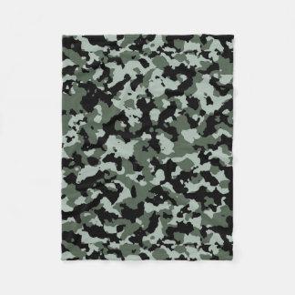 Military Green Camouflage Pattern Fleece Blanket