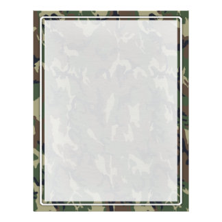 Military Green Camouflage Pattern 21.5 Cm X 28 Cm Flyer