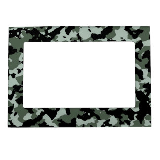 Military Green Camouflage Pattern Magnetic Picture Frames