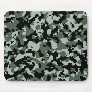 Military Green Camouflage Pattern Mouse Pad