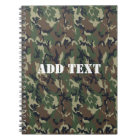 Military Green Camouflage Pattern Notebook