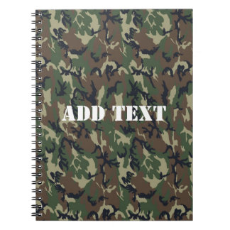 Military Green Camouflage Pattern Notebooks