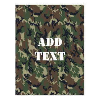 Military Green Camouflage Pattern Postcard