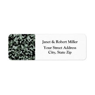 Military Green Camouflage Pattern Return Address Label